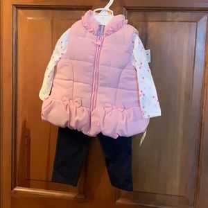 Girls 3 piece set 12 months
